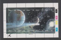 South Africa-Ciskei Scott 89a 1986 Halley's Comet Sheetlet,Mint Never Hinged - Ciskei