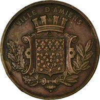 France, Médaille, Exposition Scolaire De La Somme, Ville D'Amiens, 1883, TTB - Autres
