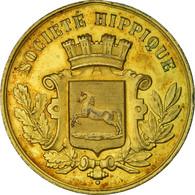 France, Médaille, Société Hippique, TTB+, Gilt Bronze - Autres