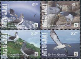 Aitutaki 966-969 Block Of Four (complete Issue) Unmounted Mint / Never Hinged 2016 Chatham-Albatros - Aitutaki