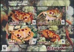Aitutaki Block99 (complete Issue) Unmounted Mint / Never Hinged 2014 Dotted Riffkrabbe - Aitutaki