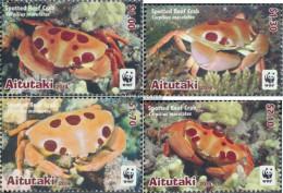 Aitutaki 923-926 (complete Issue) Unmounted Mint / Never Hinged 2014 Dotted Riffkrabbe - Aitutaki