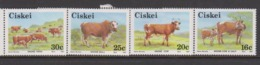 South Africa-Ciskei Scott 106-109 1987 Cattle,Mint Never Hinged - Ciskei