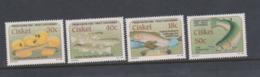 South Africa-Ciskei Scott 135-138 1989 Trout,Mint Never Hinged - Ciskei