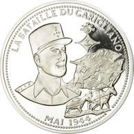 France, Médaille, La Bataille Du Garigliano, FDC, Argent - Autres