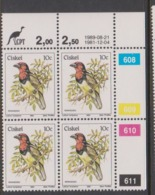 South Africa-Ciskei Scott R14 1981 Birds,10c Lybius Torquatus Dated 1989,Block 4,mint Never Hinged - Ciskei