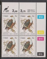 South Africa-Ciskei Scott R18 1981 Birds,15c Haliaeetyus Dated 1989,Block 4,mint Never Hinged - Ciskei