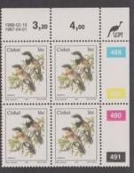 South Africa-Ciskei Scott R19 1981 Birds,16c Batis Capensis Dated 1988,Block 4,mint Never Hinged - Ciskei