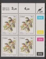 South Africa-Ciskei Scott R19 1981 Birds,16c Batis Capensis Dated 1988-07-01,Block 4,mint Never Hinged - Ciskei