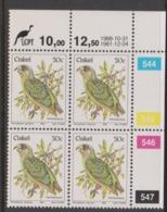 South Africa-Ciskei Scott R25 1981 Birds,50c Polcephalus Robustus Dated 1988,Block 4,mint Never Hinged - Ciskei
