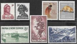 Papua  New Guinea  1961-3  Sc#153-7, 159-60  MNH   2016 Scott Value $5.10 - Papua New Guinea
