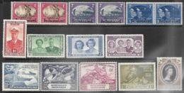 Bechuanaland 1945-53  Sc#137-46, 149-53  MH  2016 Scott Value  $7.15 - 1885-1964 Herrschaft Von Bechuanaland