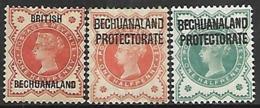 Bechuanaland 1887 Sc#10, 1897 #69, 1902 #75   MH*   2016 Scott Value  $5.50 - Bechuanaland (...-1966)