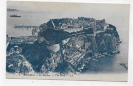 MONACO - N° 2 - LE ROCHER AVEC PORT A GAUCHE - CPA VOYAGEE - Harbor