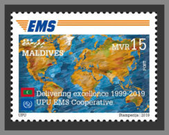 MALDIVES 2019 MNH Delivering Excellence 1999-2019 Cooperative UPU - EMS 1v - OFFICIAL ISSUE - DH1938 - Poste