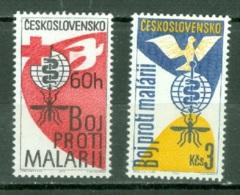 Tchéco    Yvert  1223/1224  * *   TB  Paludisme Médecine - Neufs
