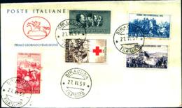 13676a)F.D.C. Centenario Della II Guerra D'Indipendenza - 27 Giugno 1959 - FDC