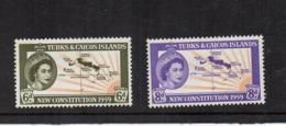 Turks & Caicos Island - 1959 - Nuova Costituzione - 2 Valori - Nuovi - Linguellati - (FDC16973) - Turks E Caicos