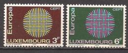 Luxemburg  (1970)  Mi.Nr.  807 + 808  Postfrisch / ** / Mnh  (13fl01)  EUROPA - Europa-CEPT