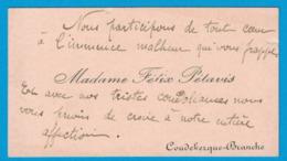 MADAME FELIX PETAVIS COUDEKERQUE-BRANCHE - Cartes De Visite
