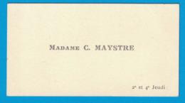 MADAME C. MAYSTRE 2e ET 4e JEUDI - Cartes De Visite