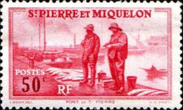 SPM Poste N** Yv: 177 Mi:180 Port De St-Pierre Pli - St.Pierre & Miquelon