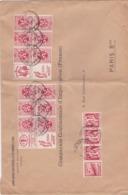 Lettre De 1933 ,avec Bandes Publicitées , CHEVRON,SCOTT,etc... Superbe (( Lot 532 )) - Postmark Collection
