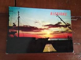 Riccione - Coucher De Soleil Sur Le Port - Autres Villes