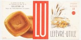 Buvard 20 X 10 Petits Déjeuner Et Goûters LU Lefefèvre-Utile  N° 4 épis Et Gerbes De Blé - Cake & Candy