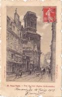CPA - 75 - PARIS - Vieux Paris - Rue Du Jour - égliste Saint Eustache - 27 - Chiese