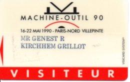 Carte Salon  Magnétique 1990  - Machine-outil Card Karte (G192) - Cartes De Salon Et Démonstration