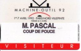 Carte Salon  Magnétique 1992  - Machine-outil Card Karte (G193) - Cartes De Salon Et Démonstration