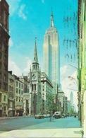 New York City, Fifth Avenue - The Empire State Building - Marble Collegiate Church - Manhattan