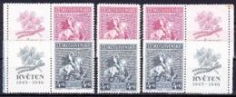 ** Tchécoslovaquie 1946 Mi 490-1 + Zf (Yv 427-8 + Vignettes), (MNH) - Tchécoslovaquie