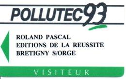 Carte Salon  Magnétique Polutec 93  Card Karte (G195) TBE - Cartes De Salon Et Démonstration