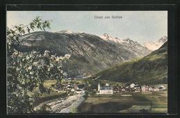 AK Sedrun, Ortsansicht Mit Bergen - GR Grisons