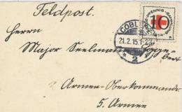 Feldpost Rotes Kreuz Coblenz 1915 - Germany
