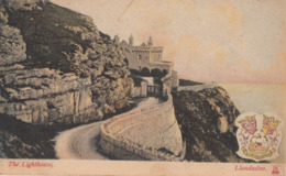 Great Britain 1909  The Lighthouse  Llandudno  Picture Postcard To London  #  09935 D - 1902-1951 (Kings)