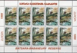 Georgia MNH Pair Of Sheetlets - 1999