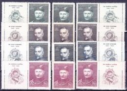 ** Tchécoslovaquie 1948 Mi 540-3 + Zf (Yv 463-6 + Vignettes), (MNH) - Tchécoslovaquie