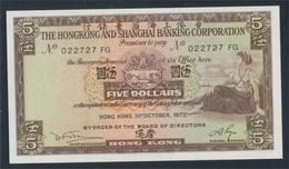 Hongkong Pick-Nr: 181f (1973) Bankfrisch 1973 5 Dollars (7350144 - Hongkong