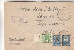 Lituanie - .lettre Recom De 1924 - Oblit Telsiai - Exp Vers Remich - - Lituania