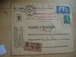 Lettre Recommande Timbre 2 F 25 Centenaire Photographie Strasbourg Bd Anvers Pour Recette Auxiliaire Wantzenau - Storia Postale