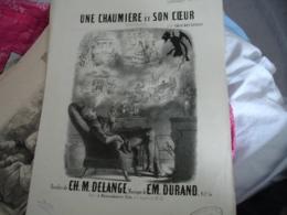 Partition Musique Ancienne Gravure De Stop Diable  Chaumiere Et Son Coeur Delange Et Durand - Muziek & Instrumenten