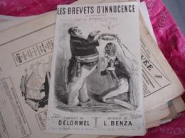 Partition Musique Ancienne  Gravure  Cafe Concert Caf Conf Alcazar Brevet Innocence - Musique & Instruments