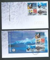 Australian Antarctic Territory 2008 International Polar Year Set Of 4 & Miniature Sheet On 2 FDC Kingston Cds Official - FDC