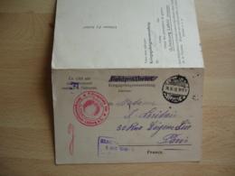 Carte 2 Volets  Limburg Camp Prisonnier Prisonniers Censure Allemande - Guerra De 1914-18