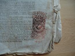 1798  Fiscal Timbre  Sec Couleur Rouge Half Penny  Sur Journal - Interi Postali
