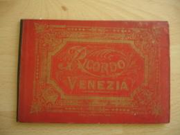 Ancien Depliant Ricordo Venezia Venise Carnet Photo Vue Chromo - Autres