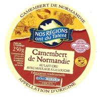 ETIQUETTE De FROMAGE..CAMEMBERT De NORMANDIE..Nos Régions Ont Du Talent - Cheese